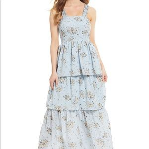 Dresses & Skirts - Floral Print Sleeveless Tiered Maxi Dress